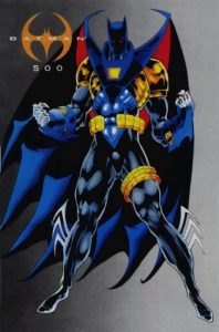 Azrael as Batman during Knightfall, looking very suitable.